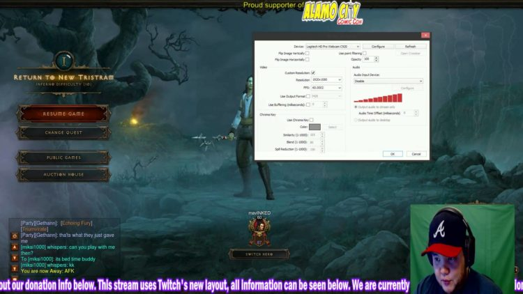 Green screen Twitch TV streaming with OBS (Open Broadcaster Software