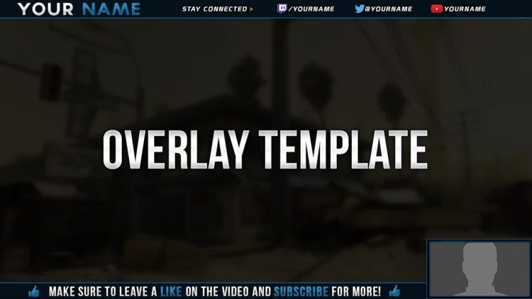 free videotwitch overlay template tutorial