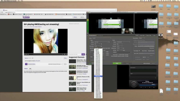 Streaming without preview windows recording