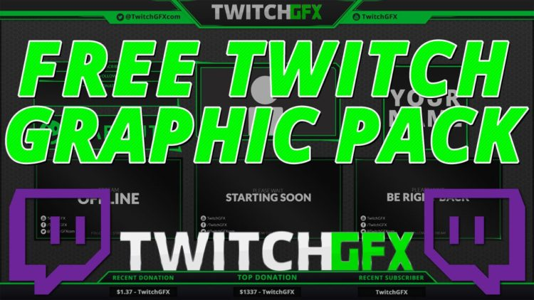free twitch overlay graphics template pack tutorial